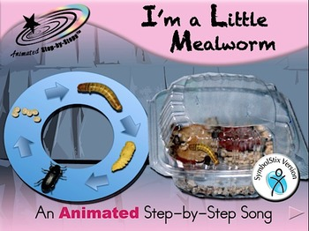 I'm a Little Mealworm - Animated Step-by-Step Song SymbolStix