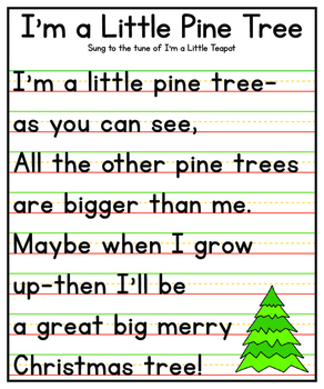 I'm a Little Pine Tree Anchor Chart {Christmas Printable}