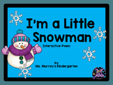 I'm a Little Snowman Interactive Pocket Chart Poem
