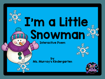 I'm a Little Snowman Interactive Pocket Chart Poem