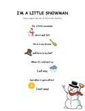 I'm a Little Snowman Poem/Reading Passage
