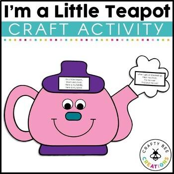 I'm a Little Teapot Cut and Paste