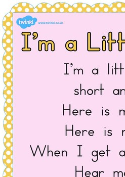 I M A Little Teapot Nursery Rhyme Poster A2 By Twinkl