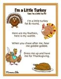 I'm a Little Turkey Song