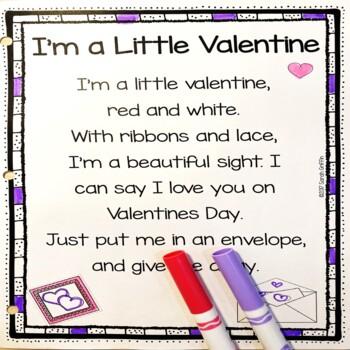 I'm a Little Valentine - Valentine's Day Poem for Kids | TpT