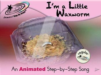 I'm a Little Waxworm - Animated Step-by-Step Song - Regular