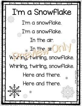 Im A Snowflake Winter Poem For Kids