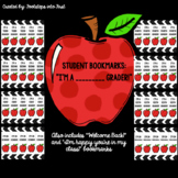I'm a _______ grader! Bookmarks