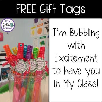 I'm bubbling with excitement to have you in my class!