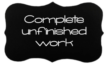 I'm done - now what? Task cards