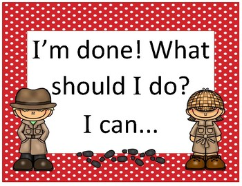I'm done what should I do? ~ Red Polka Dot Detective