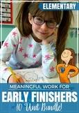 Early Finishers Bundle - work while waiting!