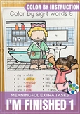 Coloring by Instructions, Sight Words and Rolling a Dice