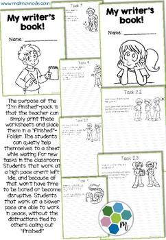 Short Writing Tasks - Image Based Prompts