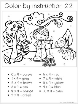 Color by Multiplication Facts