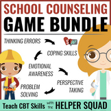Cognitive Behavioral (CBT) Game BUNDLE for school counseling
