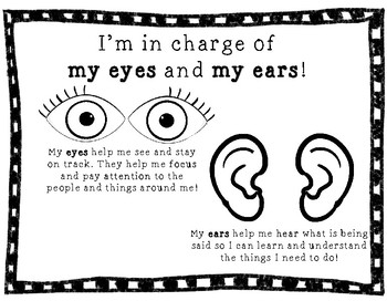 I'm in Charge of My Eyes and My Ears RESPONSIBILITY