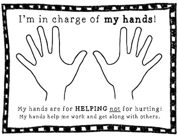 I'm in Charge of My Hands RESPONSIBILITY