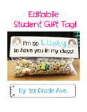 I'm so lucky to have you in my class student gift tag