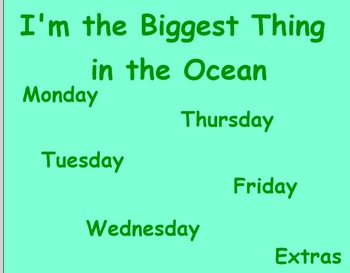 I'm the Biggest thing in the Ocean Guided Reading Lesson - Four Blocks Literacy