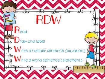 FREEBIE - Engage NY RDW (Read, Draw, Write)  - Math Poster