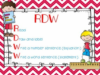 FREEBIE - Engage NY RDW (Read, Draw, Write)  - Math Poster