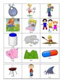 I medial CVC vowel flashcards