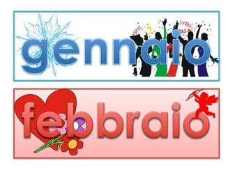 I mesi dell'anno in Italiano! Italian months of the year