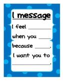 I message- Positive Classroom Mangement