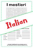 I mestieri: esercizi  e giochi (Italian A1/B1)