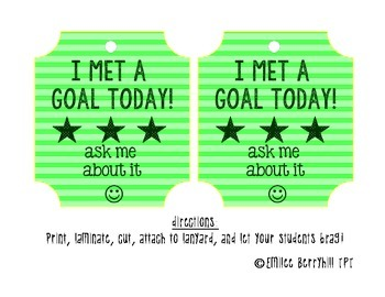 I met a goal today! Lanyard Card