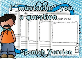"""""""I Mustache You a Question!""""- Spanish Pack"""
