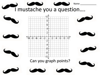 I mustache you a question, can you graph coordinate pairs?