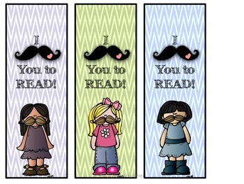 I (mustache) you to Read Bookmarks