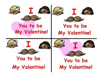 I mustache you to be my valentine tags