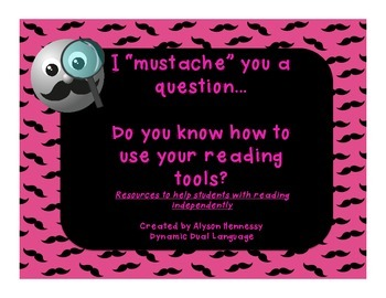 """I """"mustache"""" you to use your reading strategies!"""