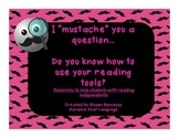 "I ""mustache"" you to use your reading strategies! FREEBIE"