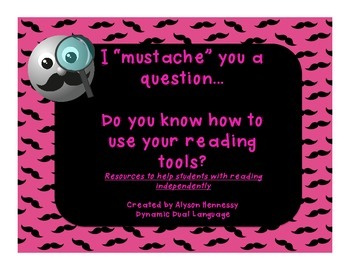 """I """"mustache"""" you to use your reading strategies! FREEBIE"""