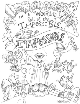 I'nPossible coloring sheet