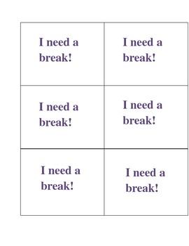 I need a break card