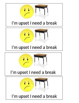 I need a break visual cue card