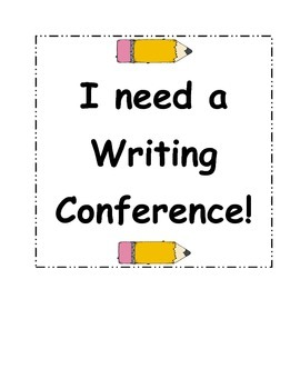 I need a writing conference sign