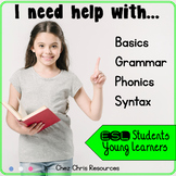 English Grammar Practice , phonics & Vocabulary Activities - ESL Newcomer BUNDLE
