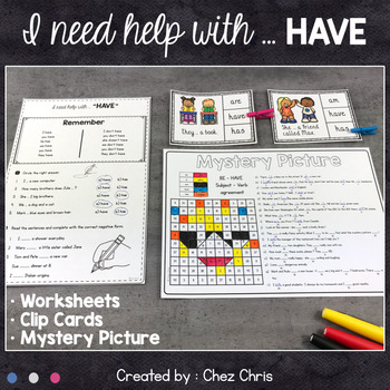 Worksheets and Clothespin Clip Cards - Have