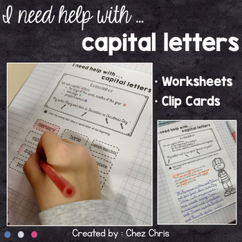 Worksheets and Clothespin  Clip Cards - Capital Letters