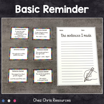 Worksheets and Clothespin Clip Cards - Making Sentences Vol 3