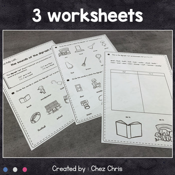 Worksheets and Clothespin Clip Cards - The Pronunciation of the Digraph oo