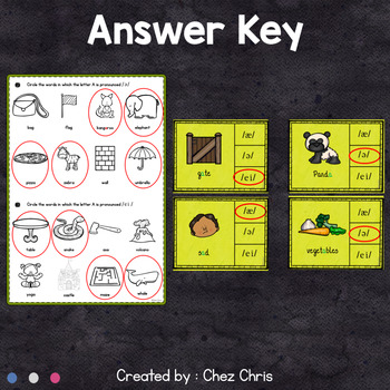 Worksheets and Clothespin Clip Cards - The Sounds of the Letter A