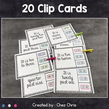 Worksheets and Clothespin Cards - The Time