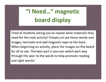 I need... material board display